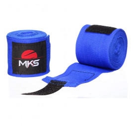 Bandagem Boxing Low Stretch MKS 3.5m Azul